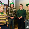 JIM VAIKNORAS/Staff photo Farms-Prides Community Association Treasurer Betsy Habich, president Rick Lord, and board members Spephen Brickles and Mike Habich, at the St Patrick's Day dinner at the Hastings House in Beverly Farms.