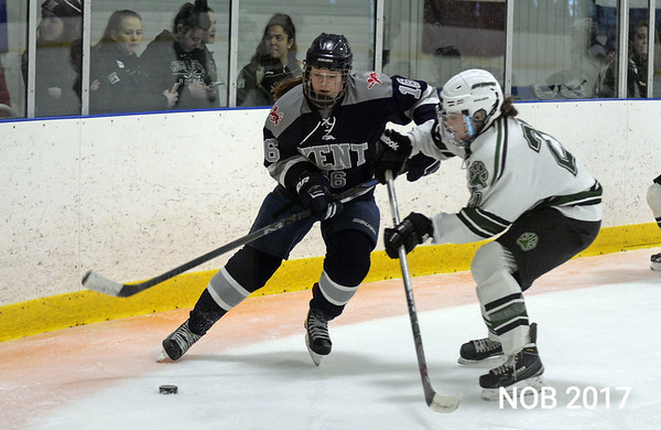RYAN HUTTON/ Staff photo<br /> Julia Nearis, of Beverly, plays forward for the Kent School during the Division 1 Championship Game against New Hampton at the Phillips Academy rink on Sunday, March 5.