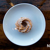 JIm Vaiknoras/Staff photo A Frosted Cruller Donut at Half Baked in Beverly Farms.