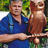 Tom Silva of This Old House with an owl made for the show