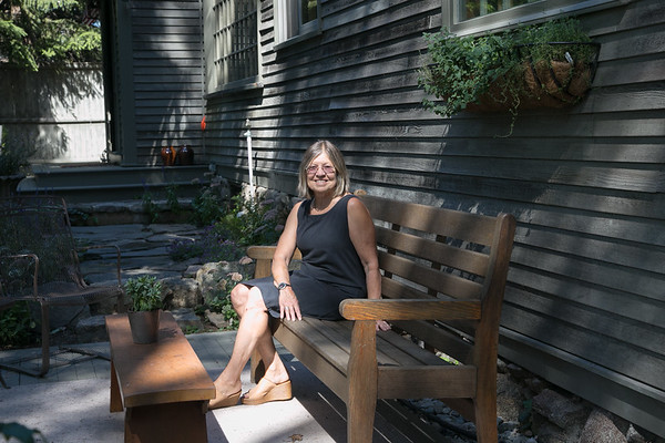 Photo/Reba Saldanha<br /> Irene Christ sits outside of her 141 Hale St. home, which was built in 1712 by Samuel Woodbury, a descendant of the city's founders. <br /> <br /> Sept. 14, 2016