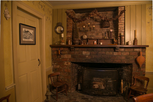 Photo/Reba Saldanha <br /> The home has a half a dozen working fireplaces, all at the center of the house.<br /> 141 Hale Street, Beverly Sept 14, 2016.