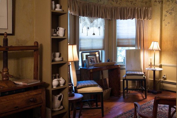 Photo/Reba Saldanha<br /> The front rooms on the first and second floor are extended to accommodate charming bay windows.<br /> 141 Hale Street, Beverly Sept 14, 2016.