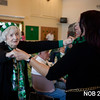 AMY SWEENEY/Staff photo. Evelyn Harrington dances with Bibian Maria at the St. Patrick's Day party at the Beverly Senior Center. <br /> 3.15/2018