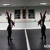 HADLEY GREEN/Staff photo<br /> BoSoma artistic director Katherine Hooper leads the BoSoma Dance Company in a warm up.