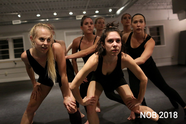 HADLEY GREEN/Staff photo<br /> The BoSoma Dance Company rehearses at their studio in Hamilton. Stephanie Boisvert, of Beverly, is center.