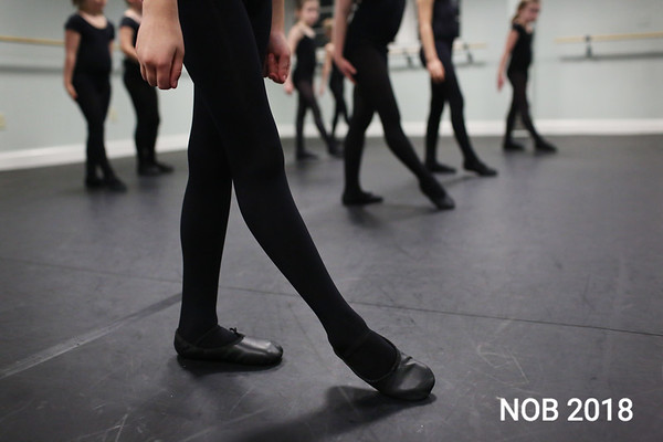 HADLEY GREEN/Staff photo<br /> The Irish step level one class practices at BoSoma Dance Company in Hamilton.