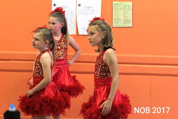 Dancers get ready for the routine in the Follies of 2017, the 85th anniversary show at the Mitchell School of Dance in Beverly.