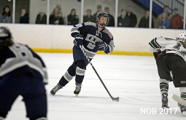 RYAN HUTTON/ Staff photo<br /> Abby Nearis, of Beverly, plays defense for the Kent School during the Division 1 Championship Game against New Hampton at the Phillips Academy rink on Sunday, March 5.
