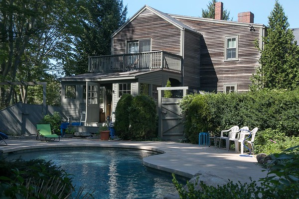 "Photo/Reba Saldanha <br /> ""My idea was to have a pool that fit a historic house,"" Christ says. ""So it looks like a small pond."" <br /> 141 Hale Street, Beverly Sept 14, 2016."