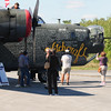 JIM VAIKNORAS/Staff photo People visit and take photos of the B 24 Liberator at the Collins Foundation Wings of Victory Tour at Beverly Airport.