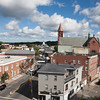AMY SWEENEY/Staff photo. A view down Cabot Street in Beverly from the steeple of the First Parish Unitarian Universalist Church located at 225 Cabot St.<br /> Sept. 15, 2016