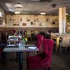 The dining room of  Wild Horse Cafe located on Cabot Street in Beverly.<br /> Photo by Don Toothaker.