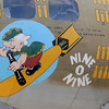 JIM VAIKNORAS/Staff photo Nose art on the Nine o Nine B-17 at the Collins Foundation Wings of Victory Tour at Beverly Airport.