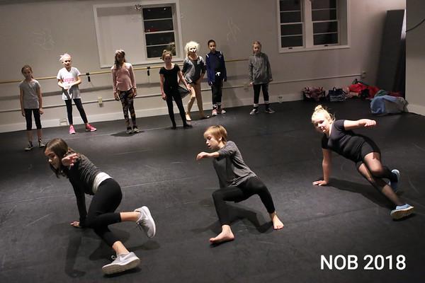 HADLEY GREEN/Staff photo<br /> The intermediate hip hop dance class practices at BoSoma Dance Company in Hamilton.