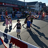 RYAN HUTTON/ Staff photo<br /> Kids dance in the street during Danvers' annual Oldies Night block party on Maple Street on Thursday night.