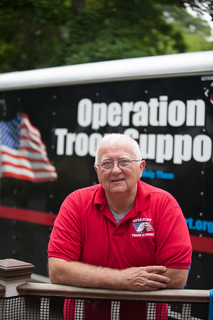 AMY SWEENEY/Staff photo. Dick Moody founded Operation Troop Support in 2003. June 26, 2016