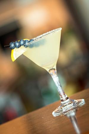 A blueberry lemon drop martini at the Osborn Tavern.