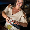 "Christina DiGregorio, general manager at Osborn Tavern makes a ""Hot and Dirty Martini"""