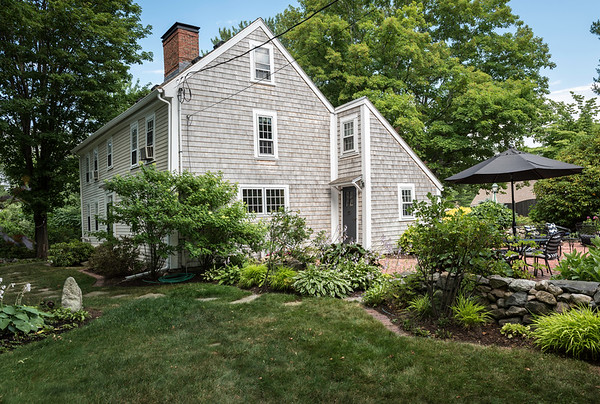 Built around 1670, the Anderson's saltbox Colonial on Putnam Lane was built to face the sun to take advantage of the warmth and light.
