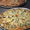 Primavera and cheese pizza at Sam and Joe's Restaurant.<br /> Photo by Kathy Chapman.
