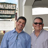 Cousins Anthony Ciruolo and Ralph Calitri who run Sam and Joe's Restaurant.<br /> Photo by Kathy Chapman.