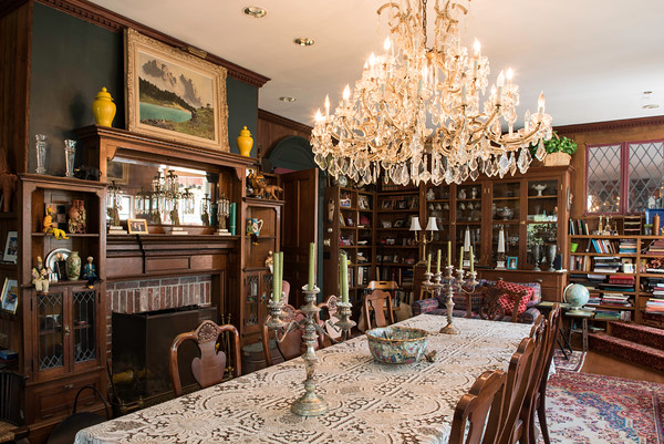 The dining room table is set at John Archer's home. The big house is often filled with party guests, political rallies and fundraisers for worthy causes. <br /> Photo by Don Toothaker