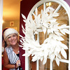 AMY SWEENEY/Staff photo<br /> Teryy Cawlina welcomes guests to her home on Pine Street in Davners for her annual cookie open house. 10/9/16