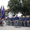 AMY SWEENEY/Staff photo <br /> The Northshoremen Barbershop Chorus sing during the 9/11 ceremony at New Brothers Restaurant and Deli in Danvers. 9/11/16
