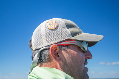 Wilson Kerr proudly sporting his derby pin. Chasing Martha's Vineyard False Albacore During the MV Derby