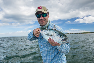 Ben Carmichael with his first Martha's vineyard false albacore. Chasing Martha's Vineyard False Albacore During the MV Derby