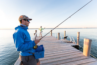 Ben Moddy is all smiles doing the dock dangle. Chasing Martha's Vineyard False Albacore During the MV Derby