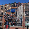 RYAN HUTTON/ Staff photo<br /> A mural on the side of the 25 Essex St., home to the Essex Street Grill.