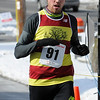 TIM JEAN/Staff photo <br /> Pat Fullerton of Bradford was the first male to finish the annual Valentine's Day Road Race in Bradford with a time of 18:48.      2/13/16
