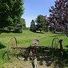 RYAN HUTTON/ Staff photo<br /> An old horse-drawn dump hay rake sits at Tattersall Farms.
