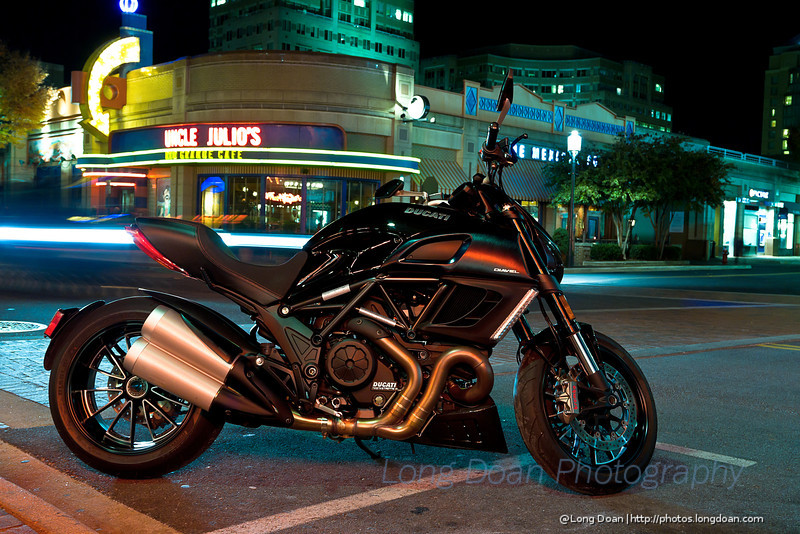 The Ducati Diavel at Reston Town Center, VA
