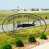 TIM JEAN/Staff photo<br /> The logo of the Aviation Museum of New Hampshire on its front door directly across from the Manchester/Boston Regional Airport.  5/25/16 5/25/16