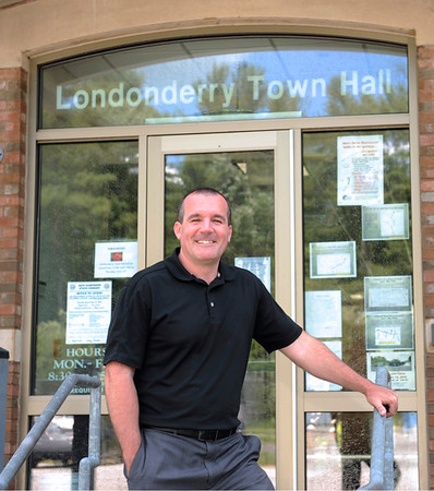 TIM JEAN/Staff photo<br /> Kevin Smith, Londonderry Town Manager. is Smith is also the public address announcer for the Londonderry High School football games. 6/15/16