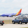 TIM JEAN/Staff photo<br /> A Southwest jet airplane taxis down the runway before leaving Manchester Boston Regional Airport in Londonderry.   6/28/16