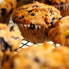 TIM JEAN/Staff photo<br /> Blueberry muffins cool in the bakery at Sunnycrest Farm in Londonderry. 7/8/16