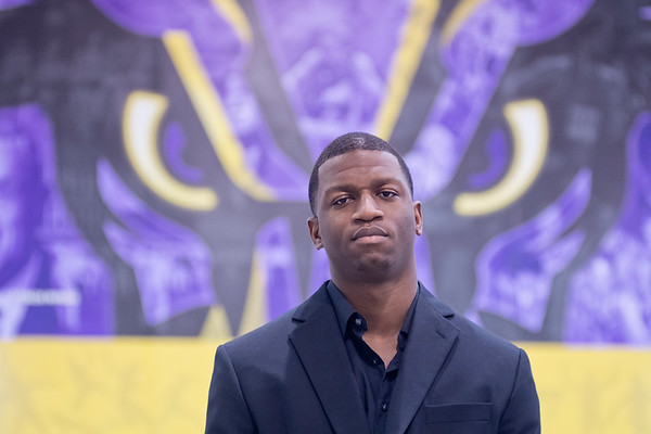 Francis Kanneh, a senior marketing student at Minnesota State University, started the company Under Recruited Preps in 2015. Kanneh said he has 10,000 clients and over 60,000 Twitter followers. He was formerly the quarterback at Southern University in Baton Rouge, La. Photo by Jackson Forderer
