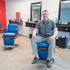 """Kevin """"Mac"""" Ayers in his newly opened barber shop Macs For Hair on Madison Avenue in Mankato."""