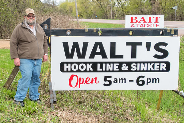 Walt Hohn has owned Walt's Hook, Line & Sinker for 12 years in rural St. Peter. Photo by Jackson Forderer