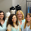 left to right: gen mgr Brittney Anderson, bridal mgr Kelli Kral, alterations specialist Cheryl Klages, bridal consultant Heather Tyree.