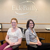 Beech Triehart (left) and Sara Johnson, administrative assistants at Eide Bailly. Photo by Jackson Forderer