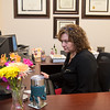 Heather Thielges, tax department head for Eide Bailly, works in her office. Photo by Jackson Forderer