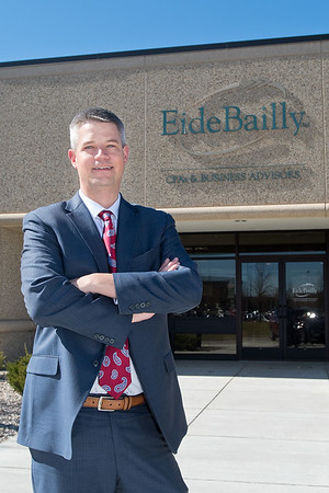 Ben Ellingson, Partner in Charge of Eide Bailly. Ellingson said the business will be celebrating its 100th anniversary in June. Photo by Jackson Forderer