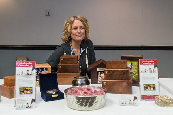 """Wendy June said she came up with the idea to start Mankato Pet Cremation as a business when she saw someone in another state with a similar business. """"I thought that's a smoking hot idea,"""" June said. Photo by Jackson Forderer"""