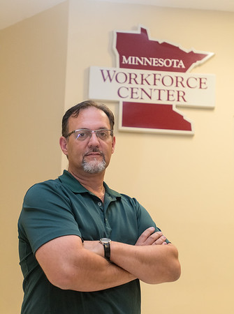 LeRoy Kiecker, a workforce development representative at the Workforce Center, has worked for 2 years at the business. His main job duties include teaching resume classes, creative job search classes, one-on-one resume development and job counseling. Photo by Jackson Forderer