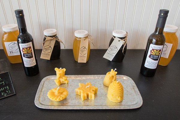 An assortment of honey-based products at Arizona Olive Oil. Owner Lisa Phillips said she gets the honey products locally from Sleepy Eye. Photo by Jackson Forderer